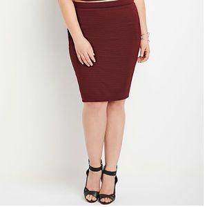 Forever 21 plus - Textured Pencil Skirt